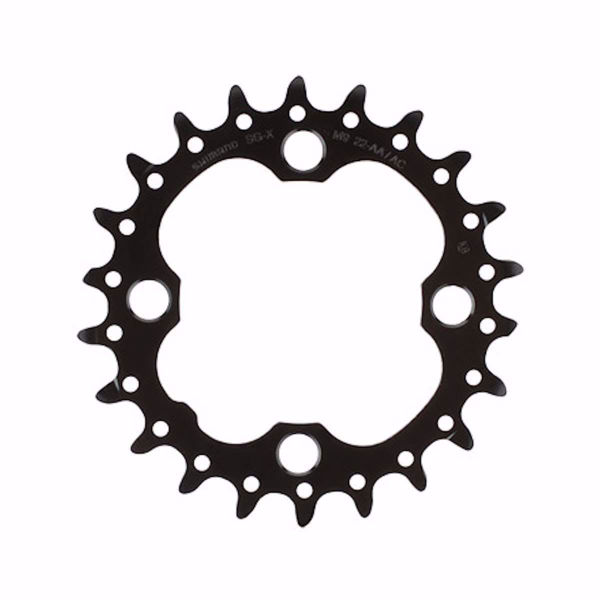 תמונה של Shimano (660) SLX Chainring For 10 Spd (Fits 770 Too) 24T