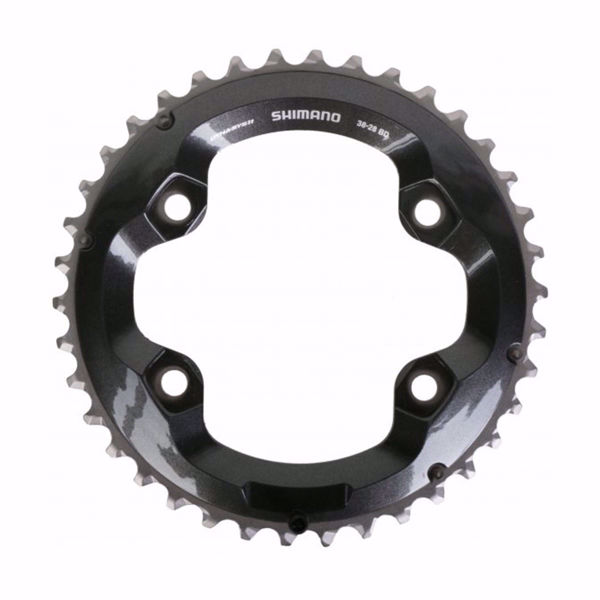 תמונה של Shimano (8000) XT Chainring 38T-BD For 38-28T