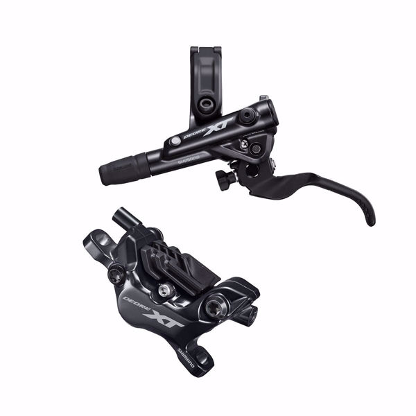 תמונה של Shimano (8120) XT Disc Brake Left Front Assembled (Caliper, Lever, Resin Pad, W/ Fin, Hose)