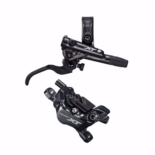 תמונה של Shimano (8120) XT Disc Brake Right Rear Assembled (Caliper, Lever, Resin Pad, W/ Fin, Hose)